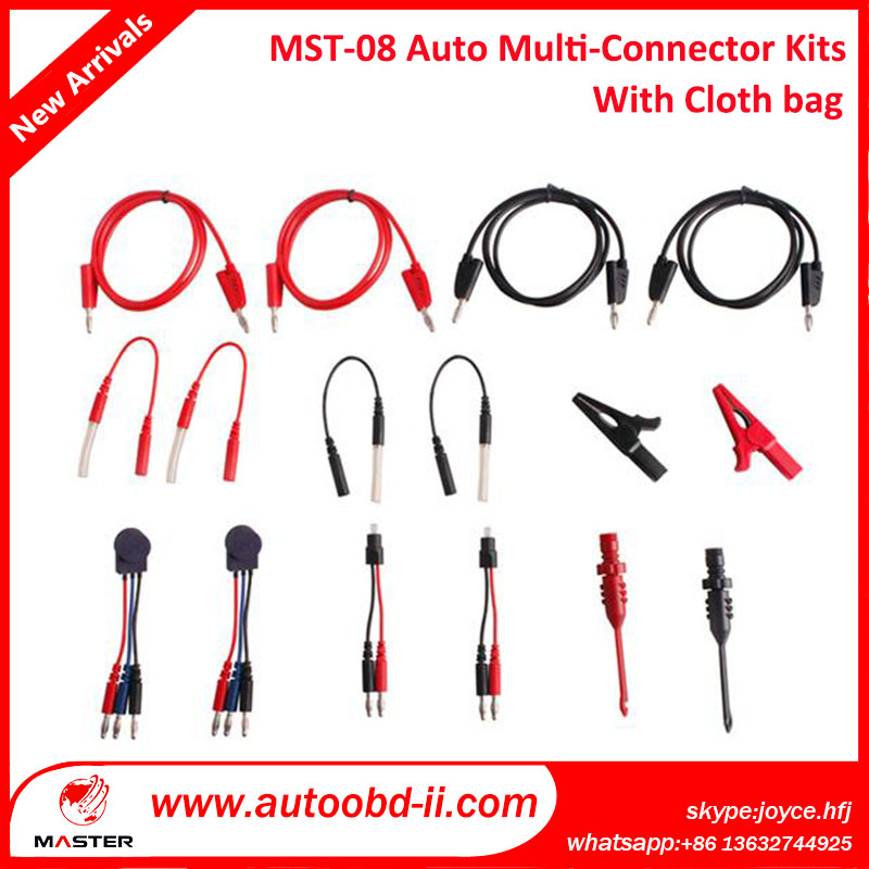 Auto Electrical Service Tools High Quality MST-08 Automotive Multi-function Lead Wiring Assistance Kit SRS connector provided(China (Mainland))