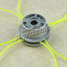 With 4 Lines Aluminum Double Head Thread Trimmer Head For Petrol Brushcutter Strimmer Free Shipping