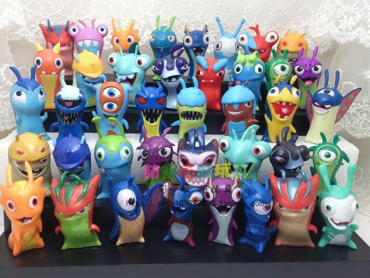Гаджет  40cpcs/set Amine Slugterra Mini PVC Action Model FIgure toy For Kids Gifts Send In Random Free Shipping None Игрушки и Хобби