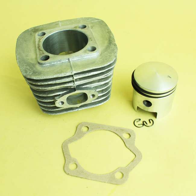 OPHIR Silver 49CC 2 Stroke Motorized Bicycle Engine Cylinder Piston Kit with Cylinder Bottom Gasket MRA5S