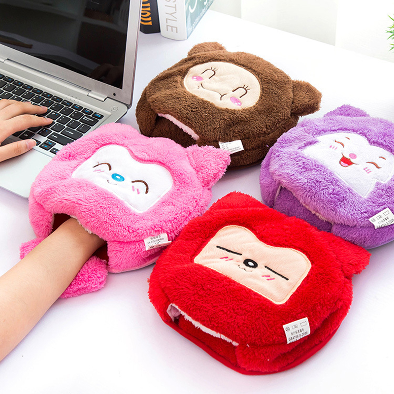 Free shipping Warm Hand USB heating mouse pad thick cartoon plush Monkey warm mouse pads Bracers household goods(China (Mainland))
