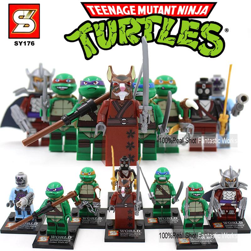 SY176 Teenage Mutant Ninja Turtles Toys Blocks Minifigures,Building Blocs Tortugas Ninja DIY Bricks Ninja Turtles For Kids(China (Mainland))