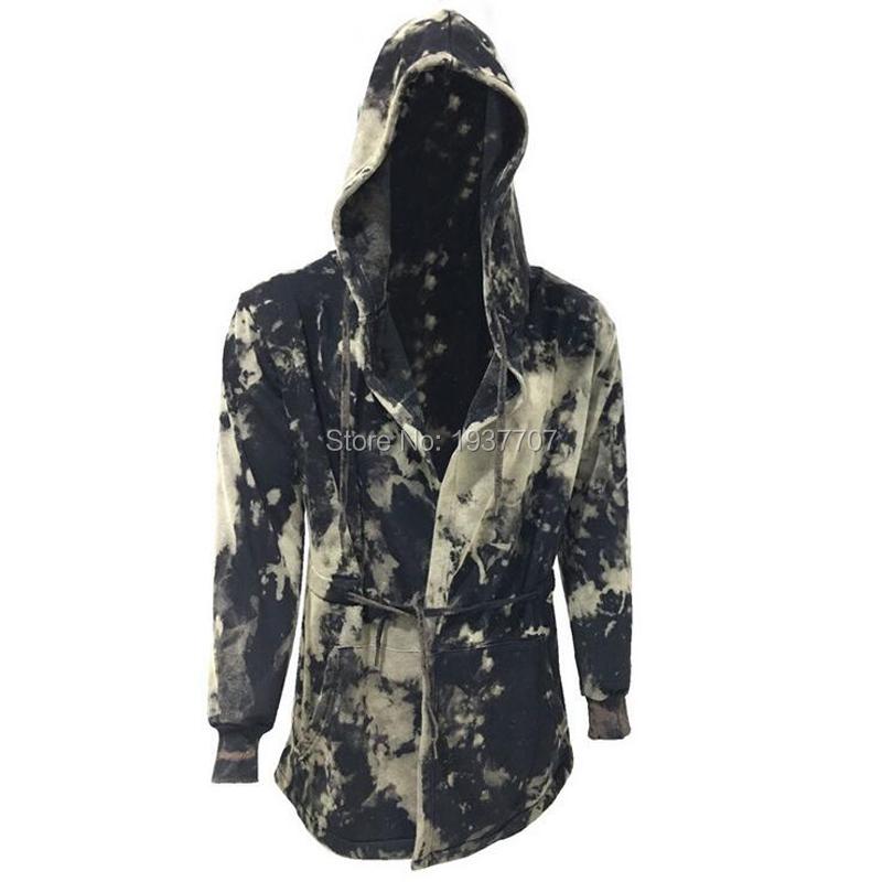 Big Size 2016 Autumn&Winter Fashion New Black Cloak Hooded Male Streetwear Hip Hop Long Hoodies Clothing Men Outerwear Cool Man(China (Mainland))