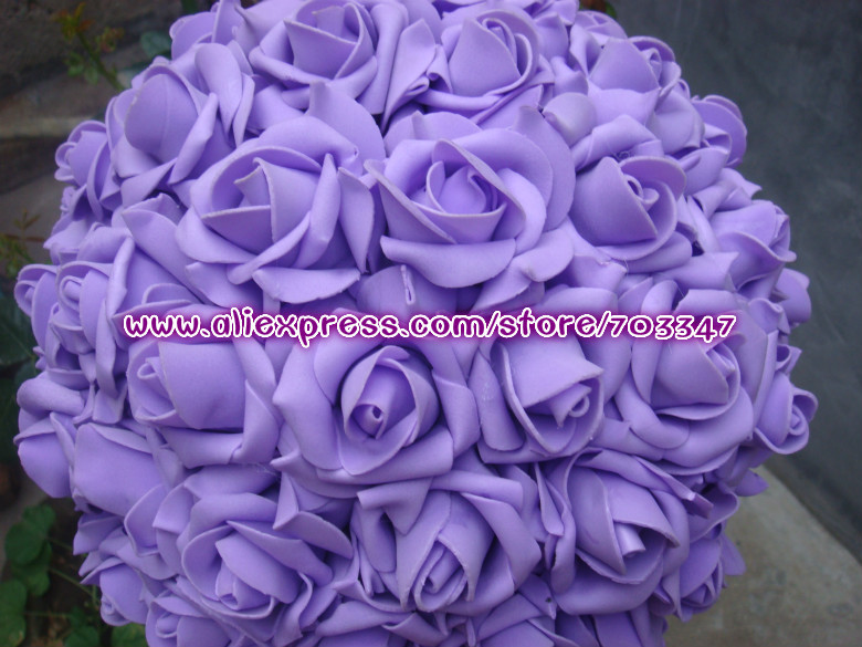 """(Many Colors) 9 1/2"""" 24CM Artificial Foam Rose Flower ball For Wedding Table Centre Artificial Flower Ball *FREE SHIPPING*(China (Mainland))"""