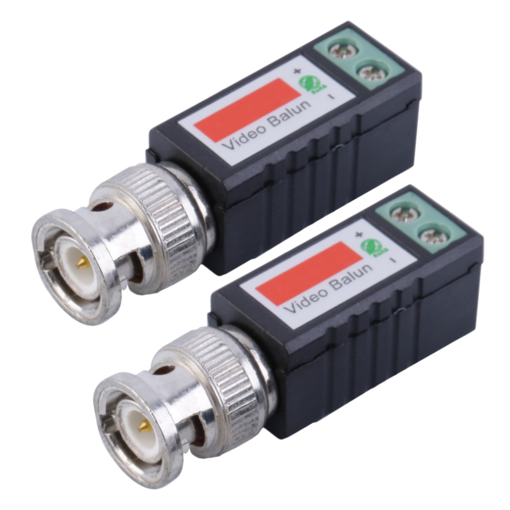 1 Pair Single 1 Channel Passive Video Transceiver BNC Connector Coaxial Adapter For Balun CCTV Camera DVR BNC UTP(China (Mainland))