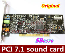 Original  1PCS/LOT   PCI7.1 sound card Creative Audigy SE 64-bit (SB0570) support for Win7 win8    Better than SB0410!(China (Mainland))