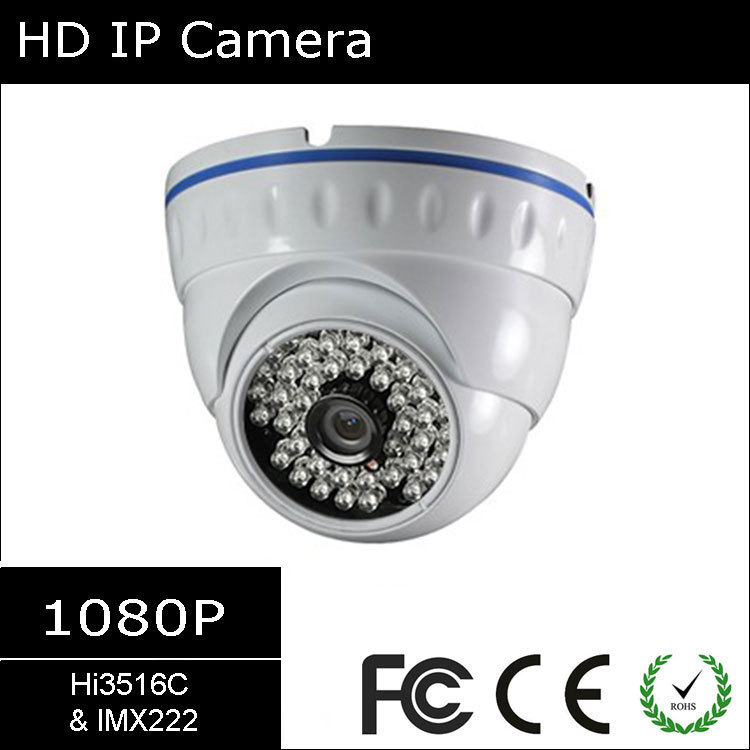 [#3902] Hisilicon Hi3516C & Sony 1/2.8'' 2.4MP IMX222, 1080P WDR Infrared Vandalproof Onvif H264 Network IP Dome Camera(China (Mainland))