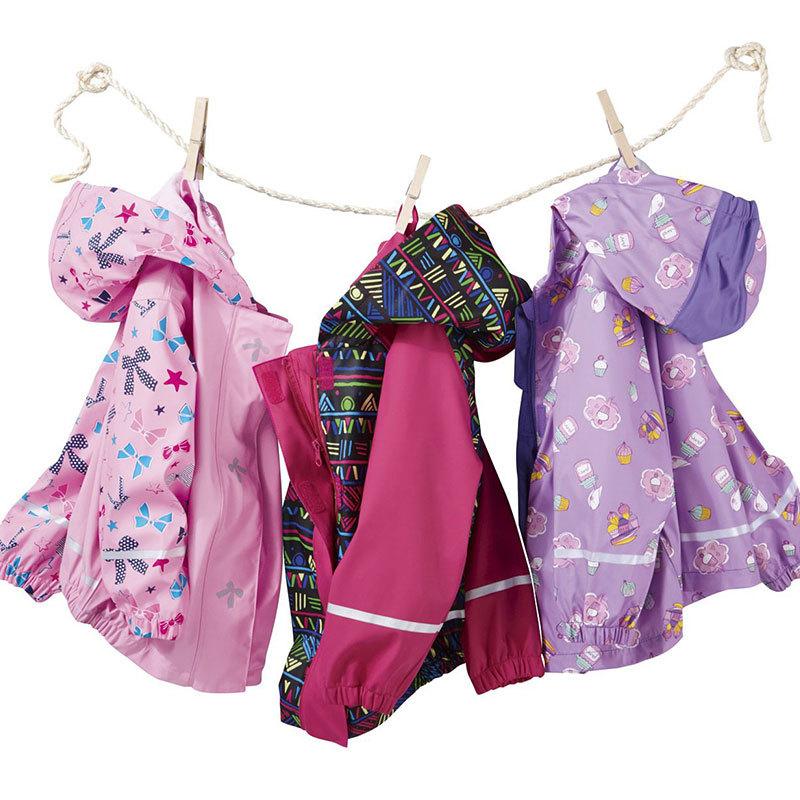 Kids Owl Raincoats Waterproof Lovely Kids Nylon Hiking Rainwear