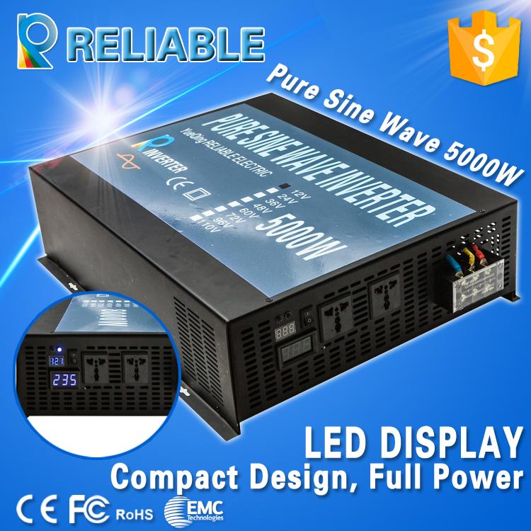 5000w LED dsplay off grid inverter DC to AC Converter True Pure Sine Wave Solar Power Inverter home power supply transformer(China (Mainland))