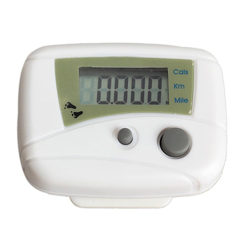EA14 Hot Waterproof Digital Backlight Clock Stopwatch LCD Run Step Pedometer Walking Distance Calorie Counter Passometer White(China (Mainland))