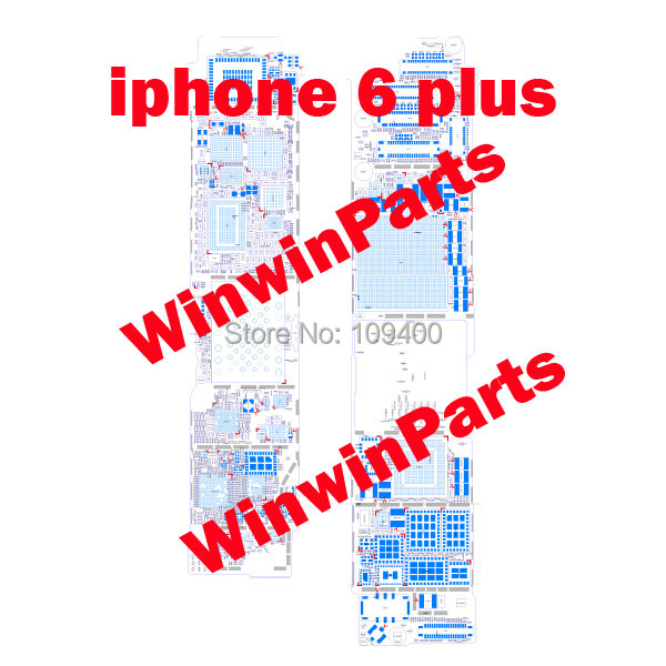 for Foxconn Genuine Original Schematic Diagram+Components Distribution Diagram for iPhone 6 Plus Repair Drawing(China (Mainland))