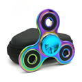 New Toy Hand Spinner Colorful Rainbow Metal Tri Fidget Spinner Anti Stress New Year Gift Toys