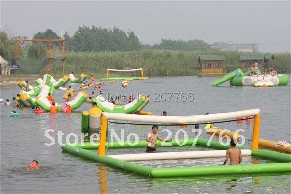summer water game inflatable water park volleyball 12m x 8m(China (Mainland))