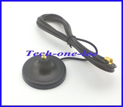2.4G WIFI Antenna Magnet Base with SMA Plug connector gsm antenna 3g magnetic stand Free Shipping(China (Mainland))