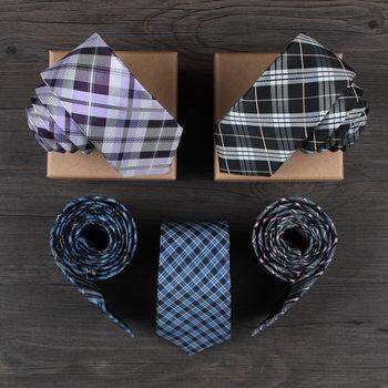 10 Styles Narrow Woven Plaid Tie 2015 New Fashion Gravata Slim Skinny Ties for Men Black Red Necktie 6cm Corbatas Cravate Homme(China (Mainland))