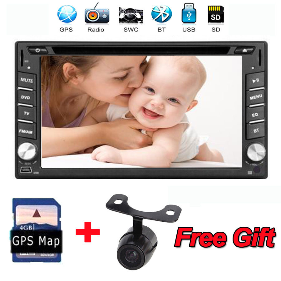 Brand New universal Car Radio Double 2 din Car DVD Player GPS Navigation In dash Car PC Stereo Head Unit video+Free Map+Camera(China (Mainland))