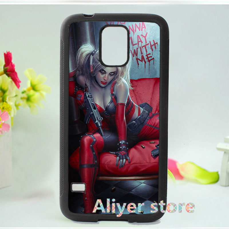 Batman Harley Quinn blood blonde phone case cover for Samsung galaxy S3 S4 S5 s6 s7 s6 edge s7 edge note 3 note 4 note 5 3 E820(China (Mainland))