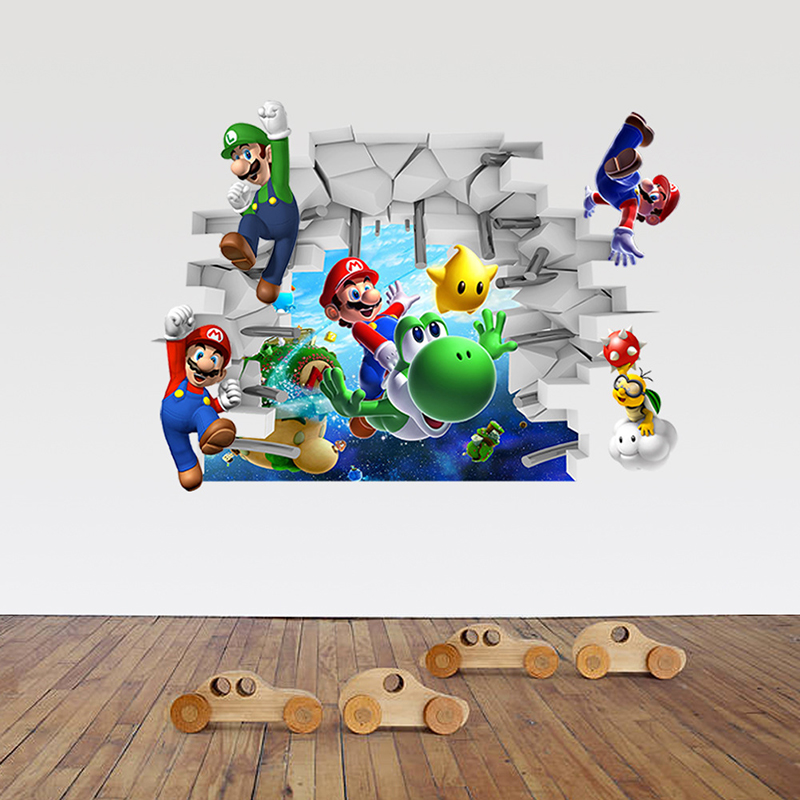 3D Cartoon Wallpaper Mural Children Contact Paper Removable Bedroom background decoration PVC High Quality Vinyl Wall Stickers(China (Mainland))