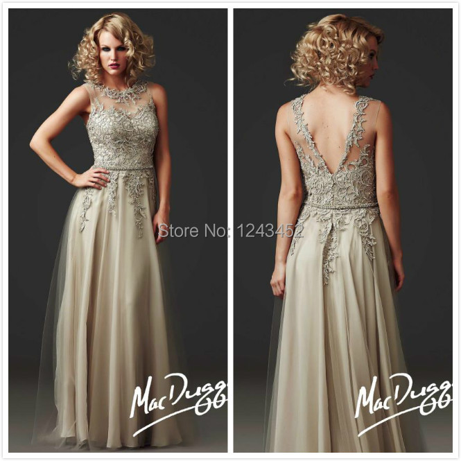 2014 vestidos women summer champagne lace v back long for Dresses for mother of groom for summer wedding