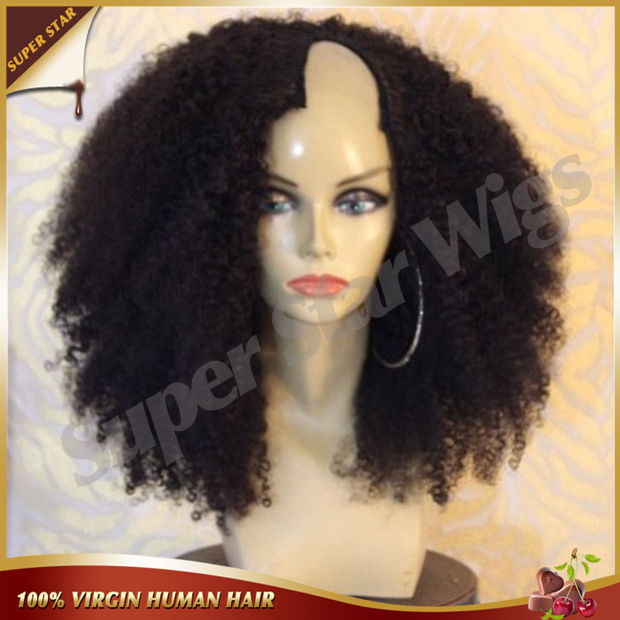 Гаджет  Cheap U Part Wig Brazilian Kinky Curly Human Hair U Part Wig Kinky Afro Full Lace Wigs&Lace Front Wigs For Black Women Free Ship None Волосы и аксессуары