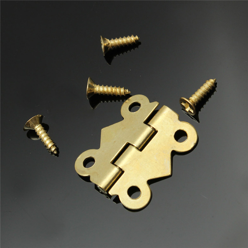 High Quality 10pcs Fashion Design Brass Color Mini Butterfly Hinges Cabinet Drawer Jewelry Box DIY Repair(China (Mainland))