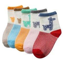 Newborn Infants Baby Kids Girls Deer Printed Cotton Ankle Socks 2-3Y