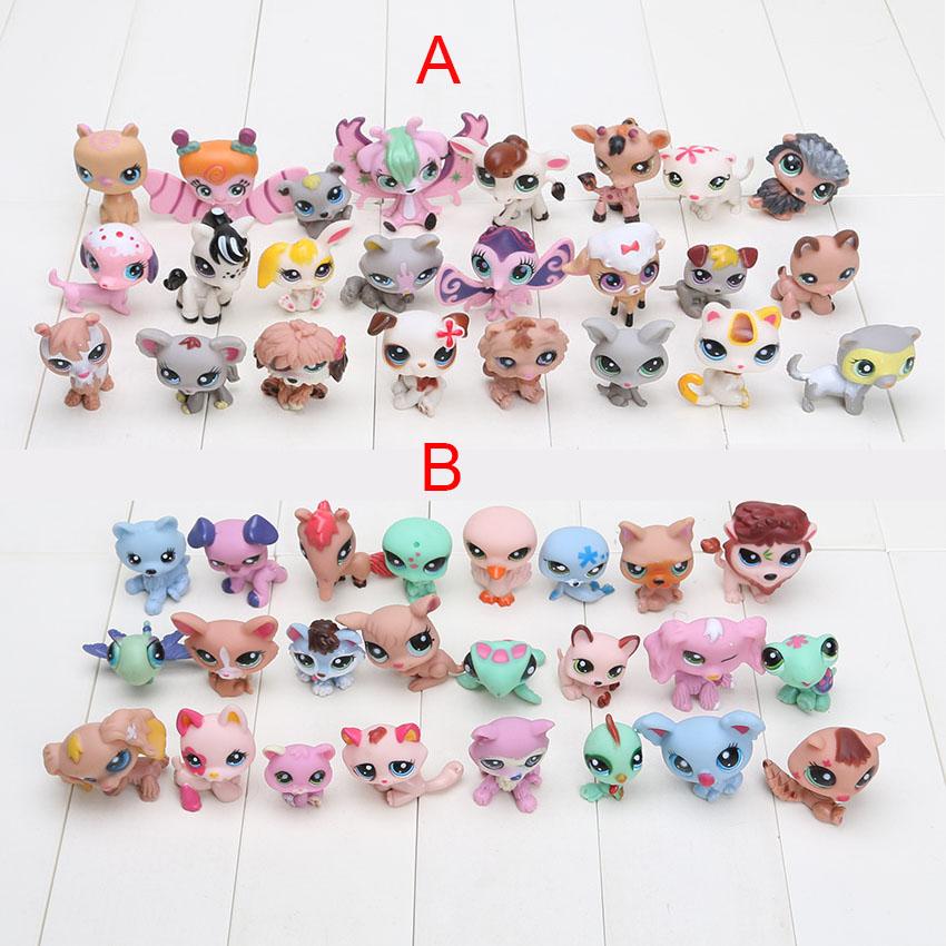 Newest 24 pcs/set Littlest Pet Shop toys Cute Animals Q Pet Shop Action Figure Collection Toys Scale Models toys(China (Mainland))