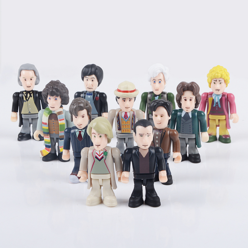 Doctor Who 11 Eleven Doctors Action Figure Collector Set(China (Mainland))