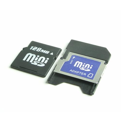 10pcs a lot 128M mini SD Phone memory card 128MB MiniSD card with Adapter(China (Mainland))