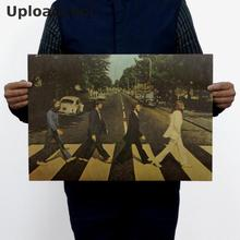 Buy Uploadcool _ cross the road band The Beatles Rock / Classic Rock / kraft paper poster Retro / decorative painting 51x35.5 cm for $1.30 in AliExpress store