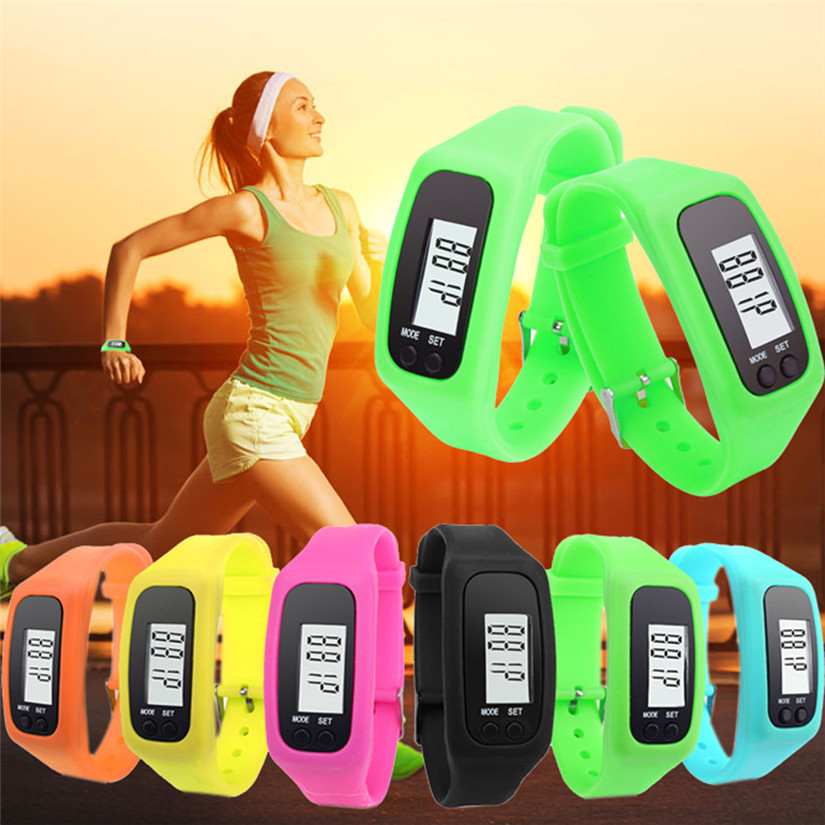 Perfect Gift Digital LCD Pedometer Run Step Walking Distance Calorie Counter Watch Bracelet July13P30(China (Mainland))