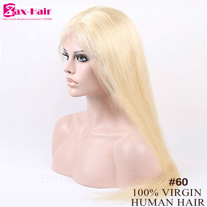 Blonde Lace Front Wig Silky Straight Glueless Full Lace Human Hair Wigs 8A Brazilian Virgin Lace Wig For Black Women 130 Density