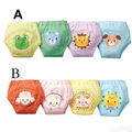 Free Ship 4 Layers Baby Training Pants Diapers Boy Girl Shorts Underwear Infant Nappies Waterproof 4