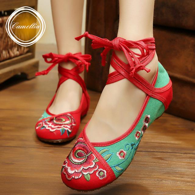 Весна / осень мода женская обувь китайский стиль свободного покроя квартиры обувь ...