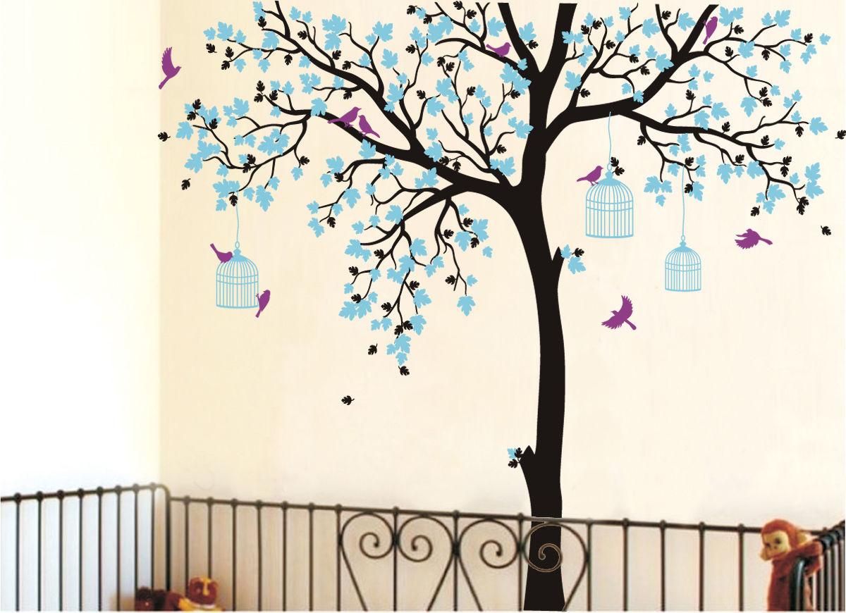 Bird Tree Leaf PVC Removable Room Home Decor Vinyl Decal Art DIY Wall Sticker J6