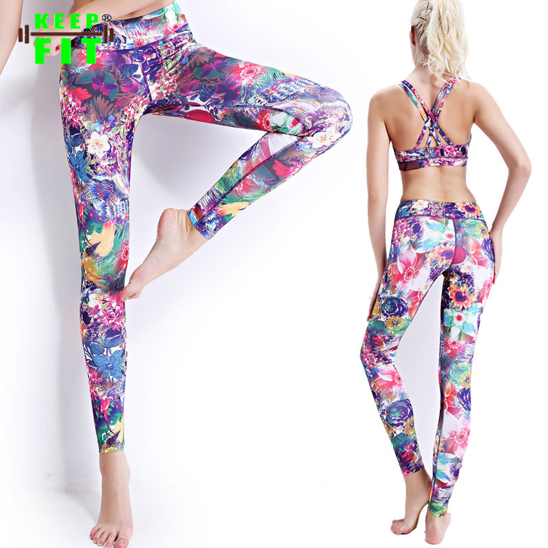 Buy Fashion Women Tight printing Stretchy Yoga Pants Leggings ...