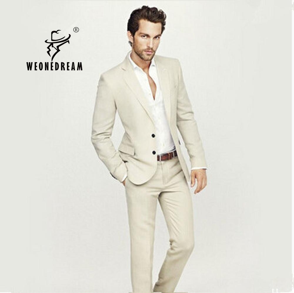 Online Get Cheap Beige Slim Fit Mens Suits -Aliexpress.com