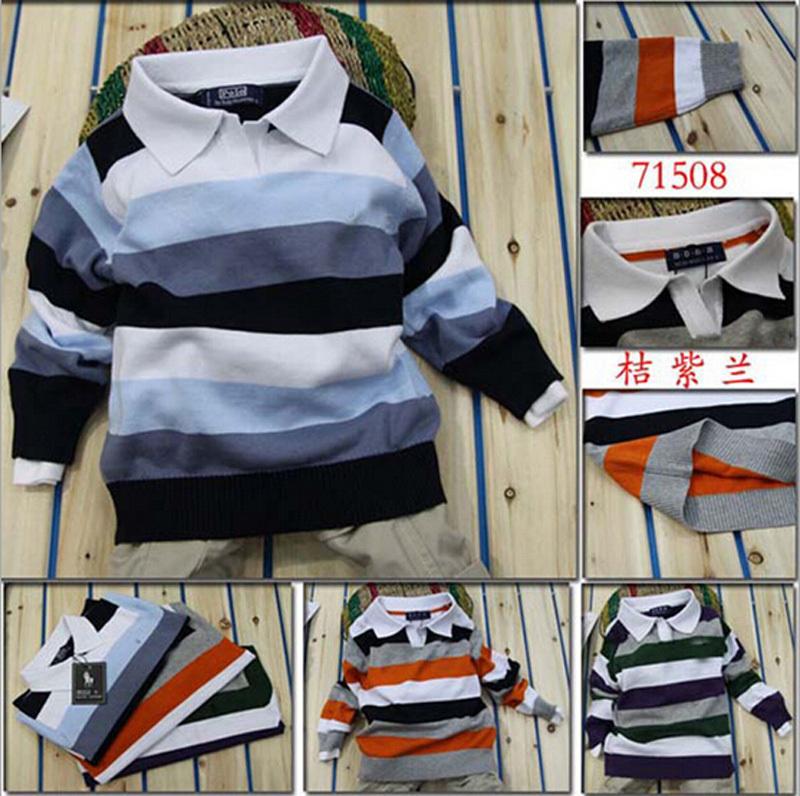 Baby boy sweater Stripe fashion brand Spring Autumn children clothes V-neck designer party kid Casual sweater camiseta infantil(China (Mainland))