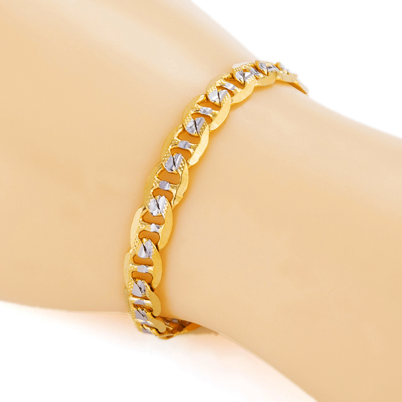 mens bracelets 2016 with st 18k real gold plated two