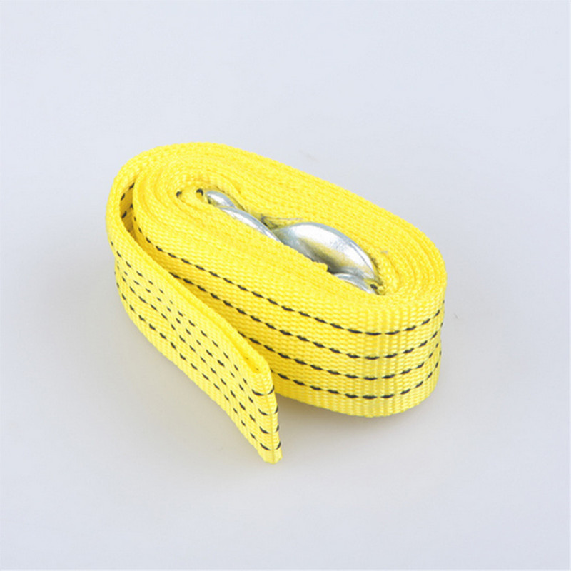 1Pcs Universal Car Dragging Coupling Tow Straps 3 Tons Loading 3 Meters Double Trailer Rope Tow Strap Traction Rope(China (Mainland))