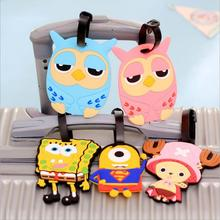 Travel Accessories Luggage Tag Suitcase Backpack Airplane Plane Fashion Cartoon Cute Character Silicon New 1 Piece(China (Mainland))