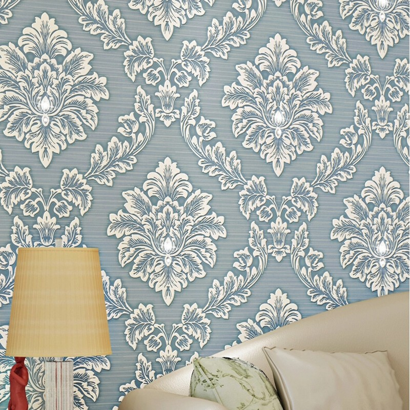 Wallpaper luxury 3d diamond high grade elegant wallpaper non woven wallcoverings bedroom for Home 3d wallpaper wallcovering