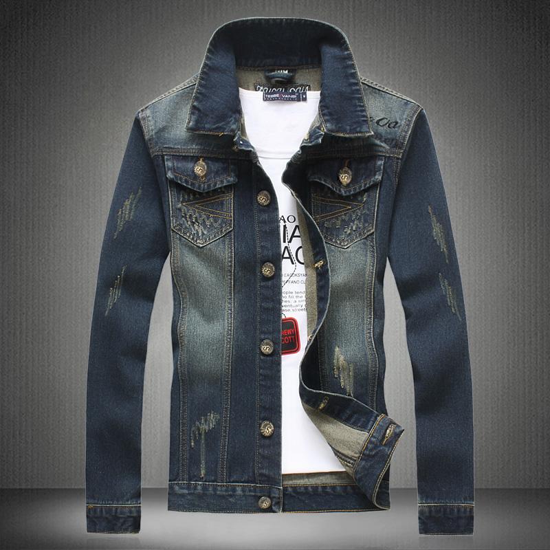 Mode Jassen Lente 2015 : Aliexpress koop heren denim jasje mode lente