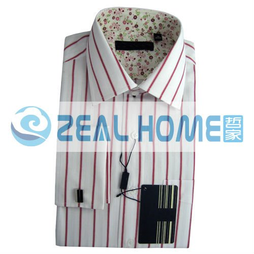 Wholesale hot sale shirts mens shirts custom made mens for French cuff shirts cheap