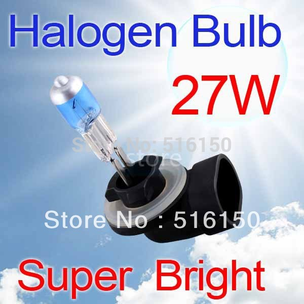 Hot sale !!! 2pcs 881 894 Super Bright White Fog Halogen Bulb Hight Power 27W Car Head Light Lamp H27 halogen(China (Mainland))