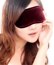 Fashionable Soft tourmaline Eye Mask Shade Nap Cover Blindfold Sleeping Travel for good sleeping(China (Mainland))