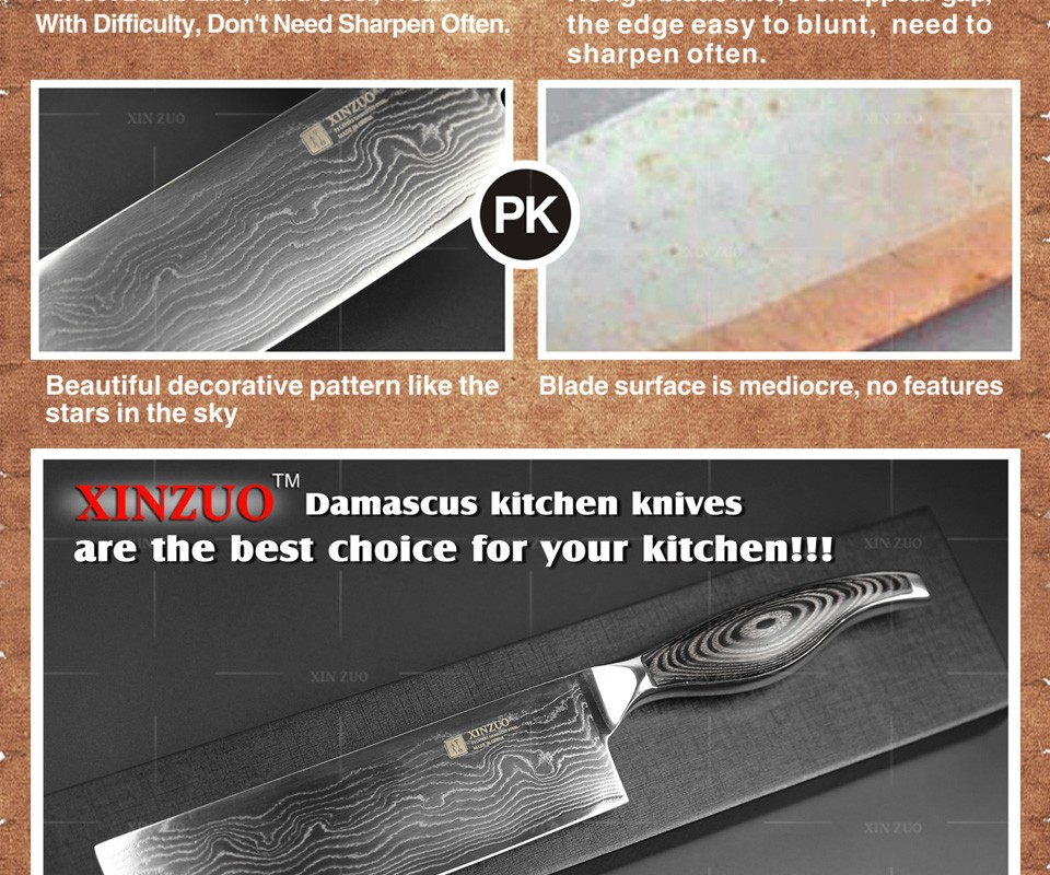 Buy hot 7 inche kitchen knives Japanese 73 layers VG10 Damascus steel chef knife Japanese woman chef knife wood handle free shipping cheap