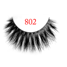 Free Shipping 1 Pair 802 100% real siberian 3d fur strip false eyelash long individual eyelashes horse hair lashes extension