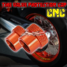 FREE SHIPPING CNC Tire Valve Wheels Stem Pressure Dust Caps Screws fit For All KTM motorcycle(China (Mainland))