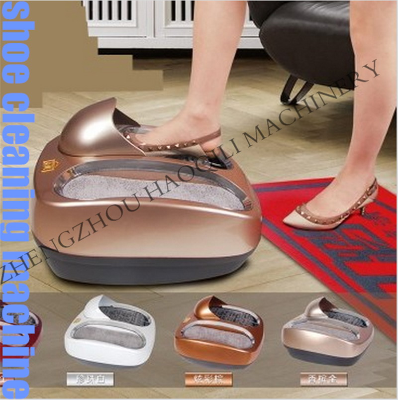 Intelligent sole cleaning machine Automatic shoe polishing equipment Instead of Shoe covers machine(China (Mainland))